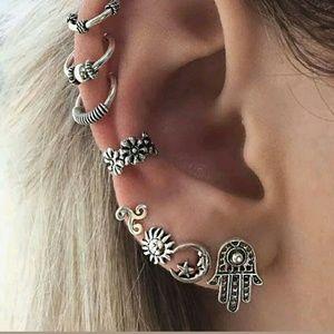 Fatima hamsa earrings 8pcs new in package